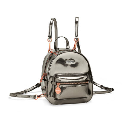 Metallic Love Mini Backpack, Gray, hires