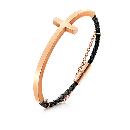 Carma Rose Gold Plated Bangle Bracelet, , hires