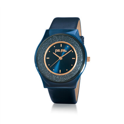 Sparkling Sand Ceramic Watch, Blue, hires