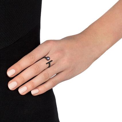 Acro Balance Black Rhodium Plated Δαχτυλίδι, , hires