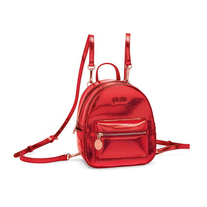 Metallic Love Mini Backpack, Red, hires