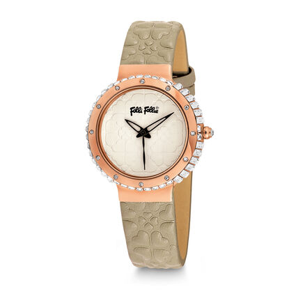 Heart4Heart Watch, Light Brown, hires