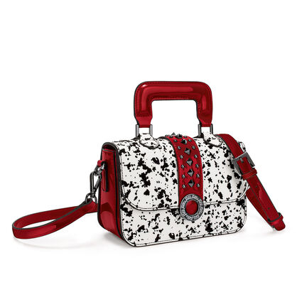 Funky Safari Mini Handbag, White Red, hires