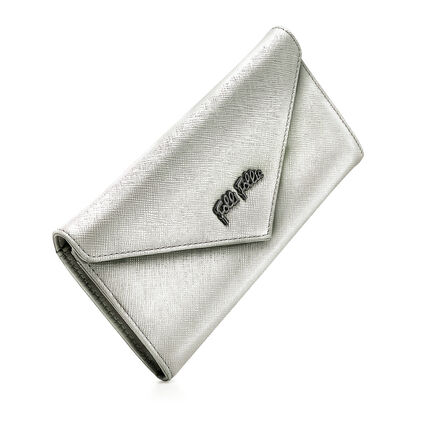Folli Follie Foldable Wallet, Silver, hires