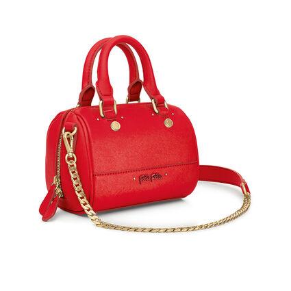 Uptown Beauty Mini Detachable Long Chain Strap Handbag, Red, hires