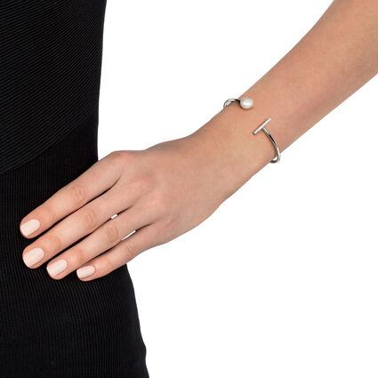 Acro Balance Rhodium Plated Cuff Bracelet , , hires