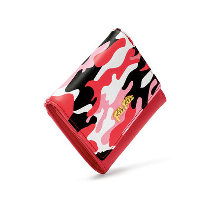 Rebel Riviera Small Foldable Leather Wallet , Red, hires