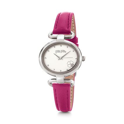 Miss Heart4Heart Extra Small Case Leather Watch , Fucshia, hires