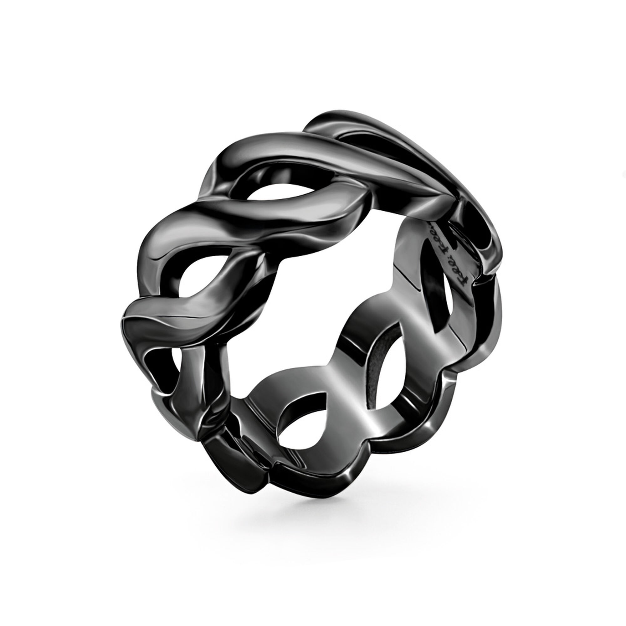 jewelry band rings bling sgd black nuestro prayer lords steel ring padre spinner stainless