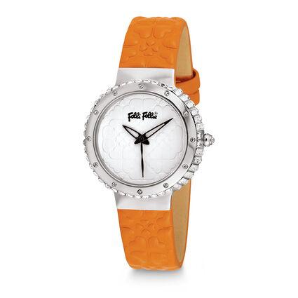 Heart 4 Heart Leather Watch, Orange, hires