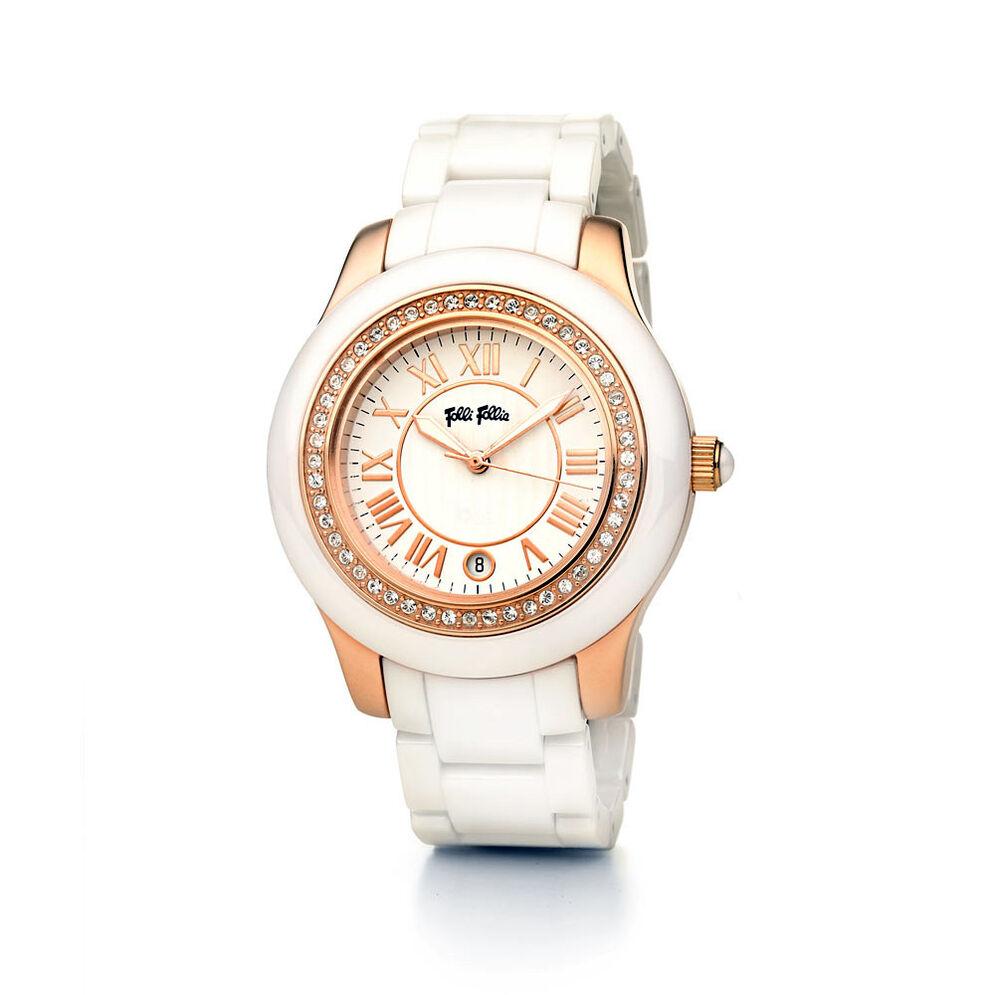 Ceramica Watch, Bracelet White, hires