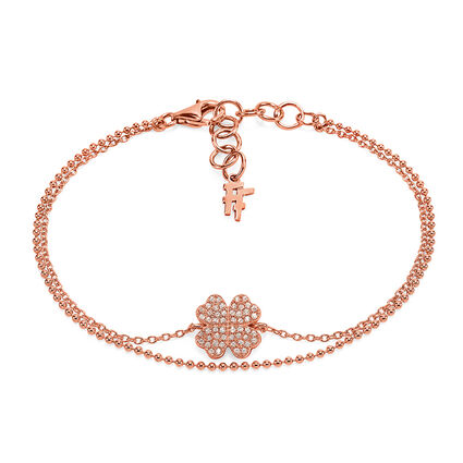 Fashionably Silver Heart4Heart Rose Gold Plated Bracelet, , hires