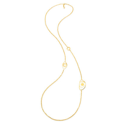 FF Talisman Yellow Gold Plated With Enamel Long Necklace , , hires
