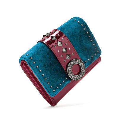 Rock Safari Small Foldable Wallet, Blue, hires