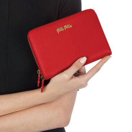 Folli Follie Zip Around Wallet, Dark Red, hires