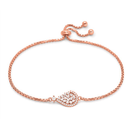 Sparkle Chic Rose Gold Plated Βραχιόλι, , hires