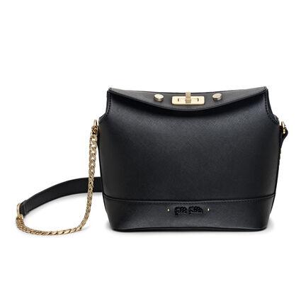Uptown Beauty Mini Bucket Shoulder Bag, Black, hires