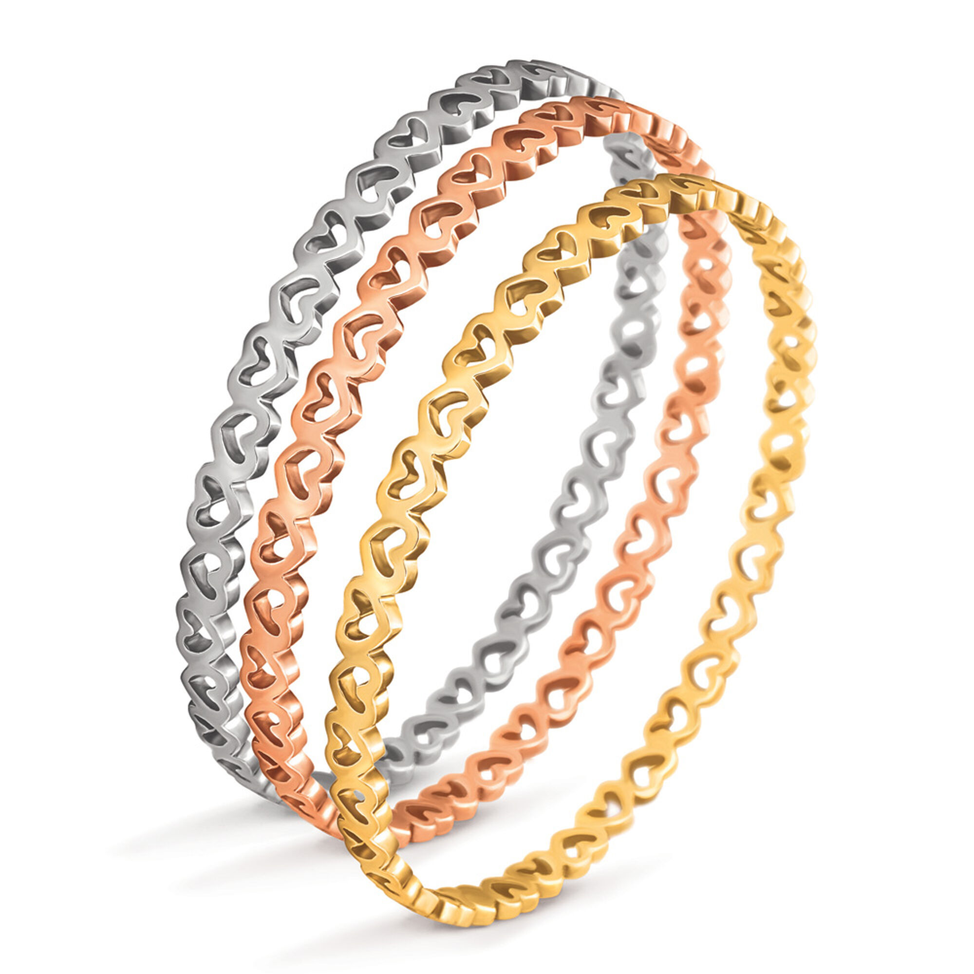 bracelets bangles silver and with by nest heart original devotion gold rose bangle product