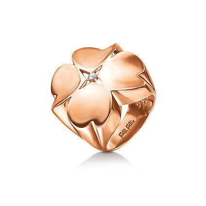 Heart4Heart True Love Rose Gold Plated Μεγάλο Δαχτυλίδι, , hires