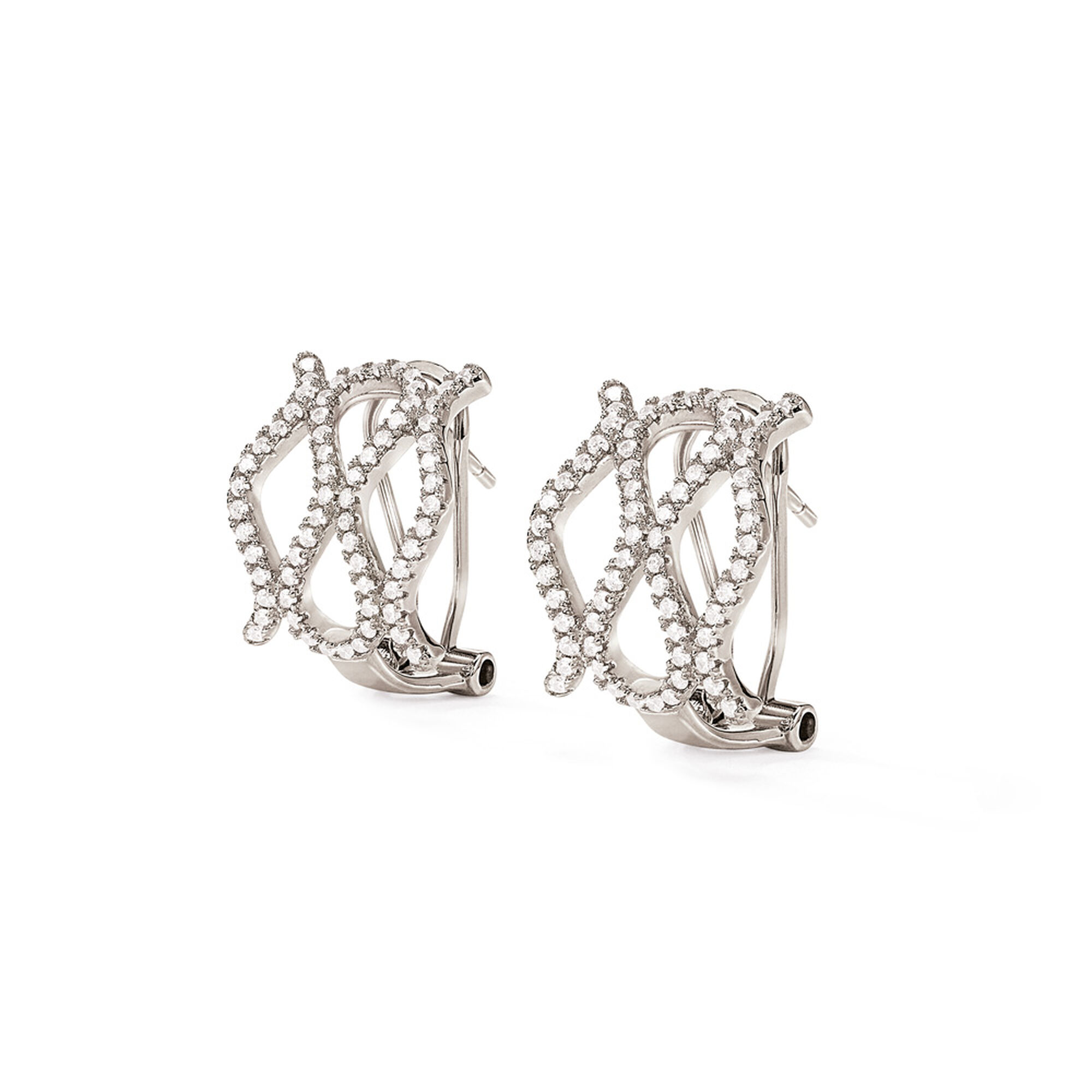 <フォリフォリ> FASHIONABLY SILVER TEMPTATION EARRINGS ピアス画像