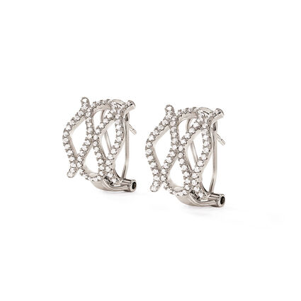 Fashionably Silver Temptation Rhodium Plated Short Earrings, , hires
