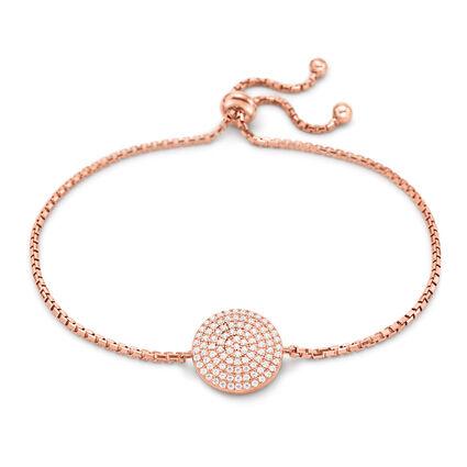 Discus Rose Gold Plated Adjustable Bracelet, , hires