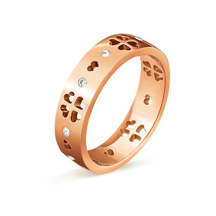 Love & Fortune Rose Gold Plated Wide Ring, , hires