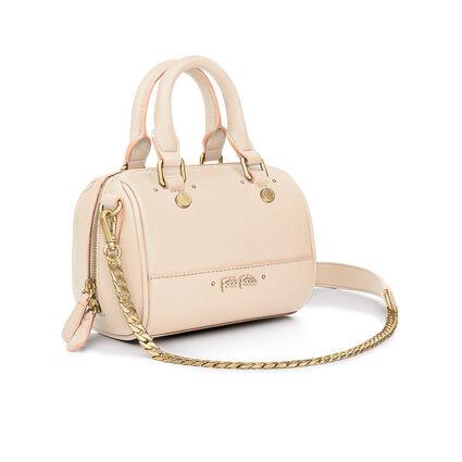 Uptown Beauty Mini Detachable Long Chain Strap Handbag, Beige, hires