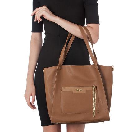 On The Go Large Shoulder Bag, Dark Camel, hires