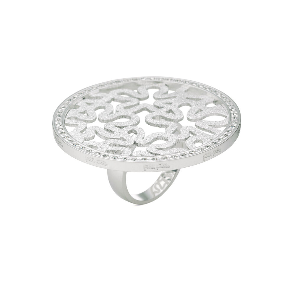 Fiorissimo Silver Plated Large Stone Ring, , hires