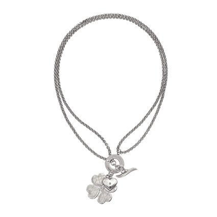 Heart4Heart Sweetheart Silver Plated Long Necklace, , hires