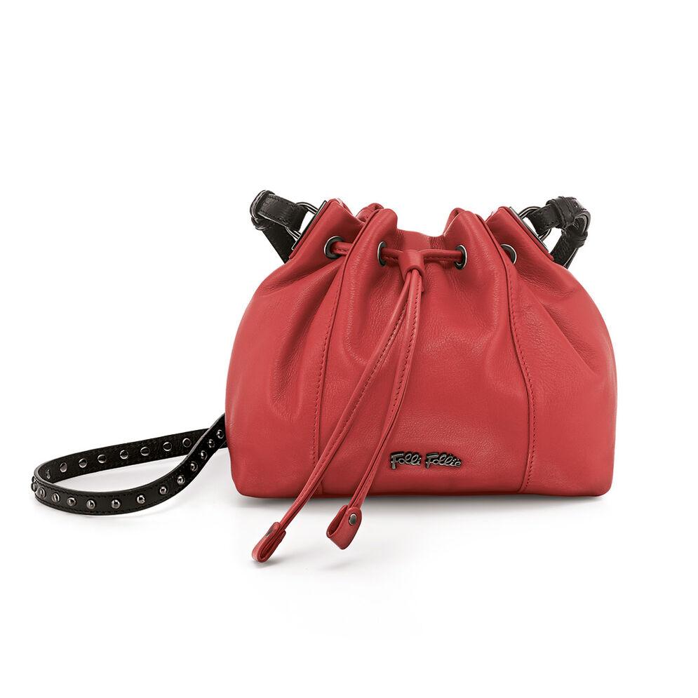 Brisk Leather Bucket Shoulder Bag, Orange, hires