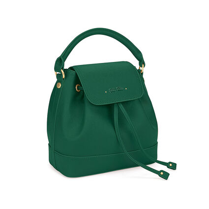 Uptown Beauty Bucket Handbag, Green, hires