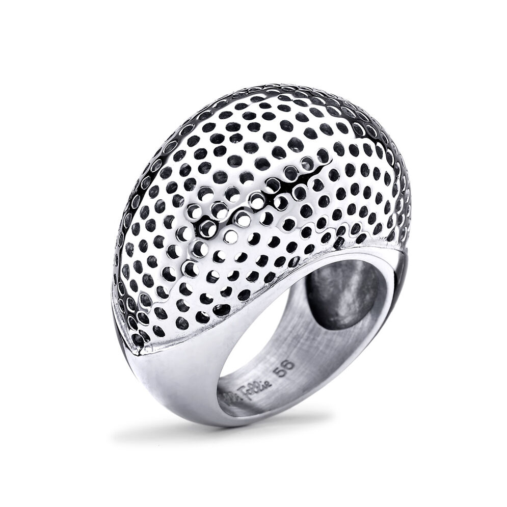 Solid Style Silver Plated Ring, , hires