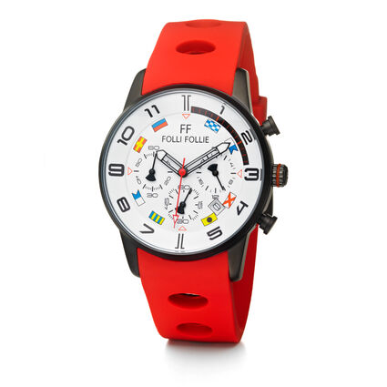 Mini Regatta Watch, Red, hires