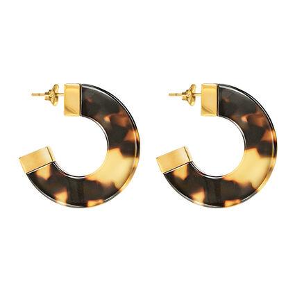 Urban Safari Line Hoop Earrings, , hires