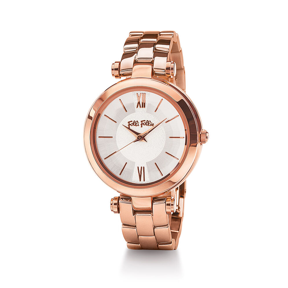 Lady Bubble Bracelet Watch, Bracelet Rose Gold, hires