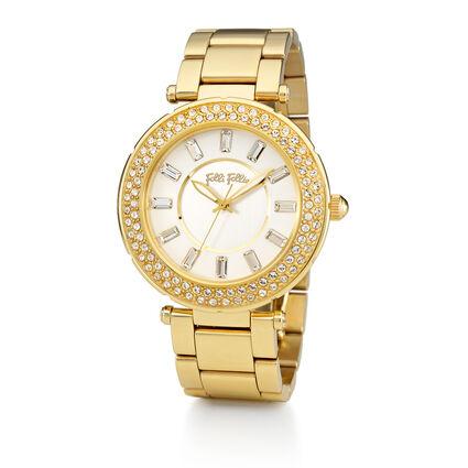Beautime Big Case Bracelet Watch, Bracelet Yellow Gold, hires