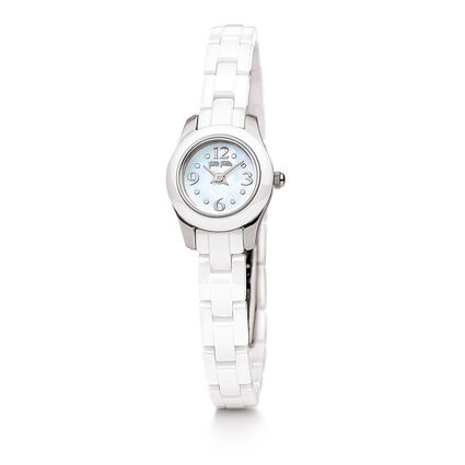 Mini Miss Watch, Bracelet White, hires