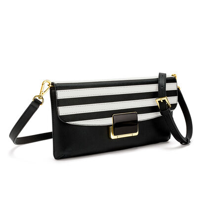 Club Riviera Envelope Leather Bag , Black, hires
