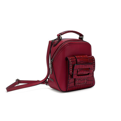 Urban Time Small Leather Backpack, Red, hires