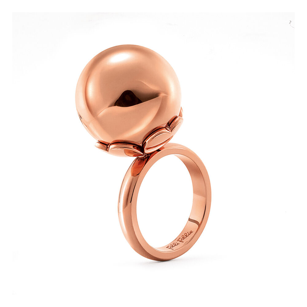 Lady Bubble Rose Gold Plated Small Ball Ring Folli Follie