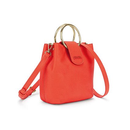 Shape Art Small Bucket Bag, Orange, hires