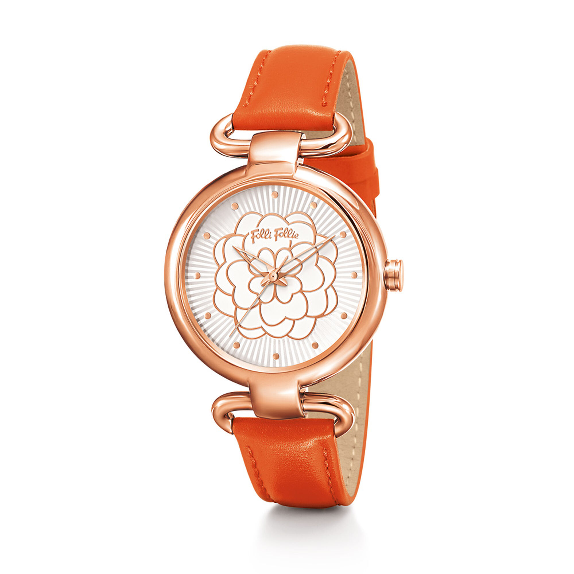 guess peach product accessories pink glitter rose watches normal patent strap gallery in watch lyst womens leather