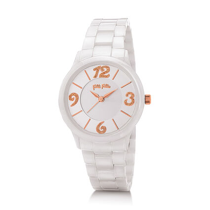 Time To Play Reloj, Bracelet White, hires