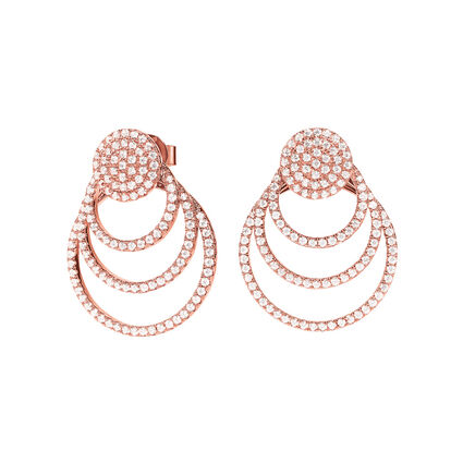 Cyclos Rose Gold Plated Short Earrings, , hires