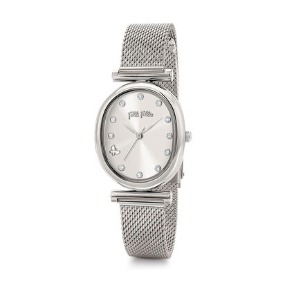 Wonderfly Oval Case Bracelet Watch, Bracelet Silver, hires