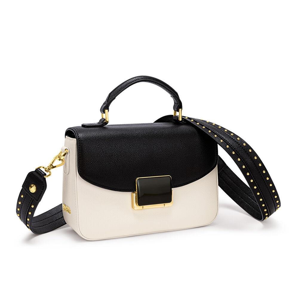 Lady Riviera Medium Leather Handbag , Beige, hires