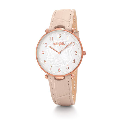 Lady Club Big Case Leather Watch, Pink, hires