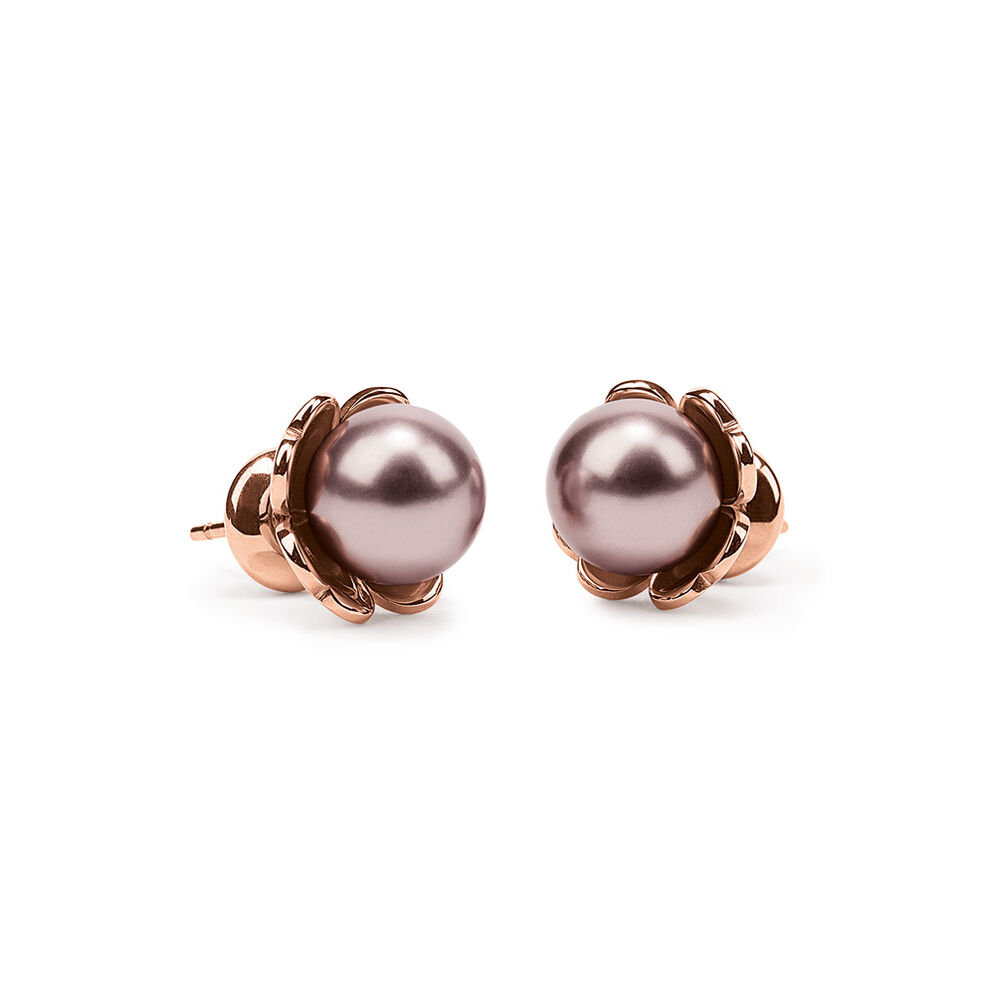 Fleur Muse Rose Gold Plated Stud Earrings, , hires